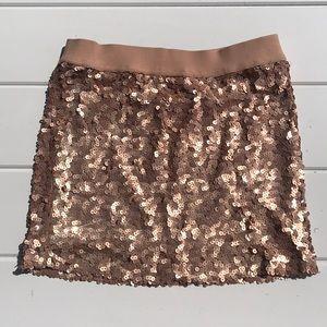 Dresses & Skirts - Champagne Sequined Skirt